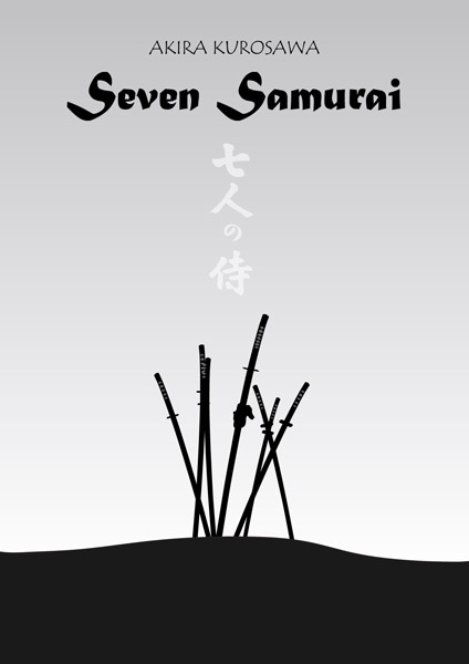 Plakaten til De Syv Samuraier. Foto: Vester Vov Vov