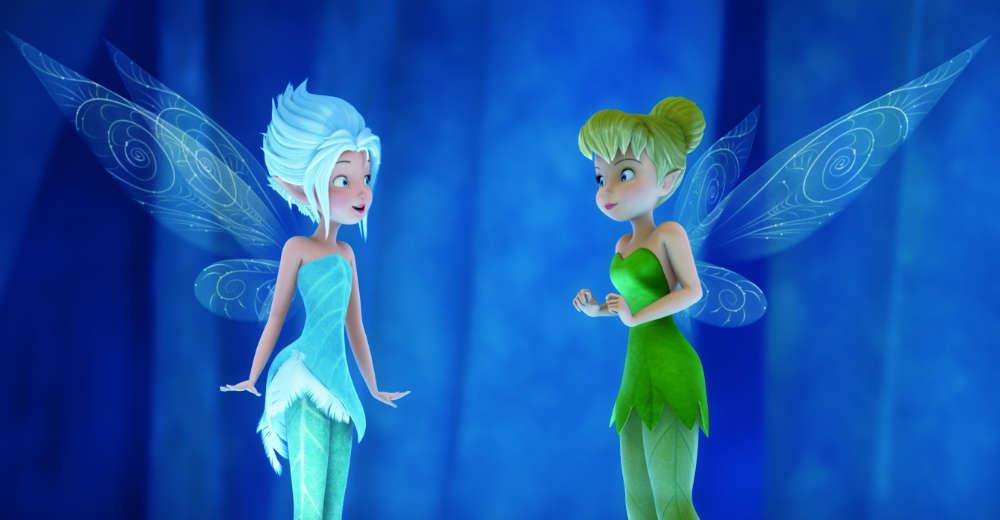 Klokkeblomst og Vinterlilje indser, at de er søstre. Photo Courtesy of Walt Disney Studios Motion Pictures/Sony Pictures Releasing