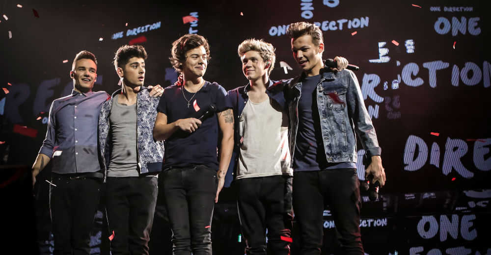 One Direction på scenen. Photo courtesy of United International Pictures.