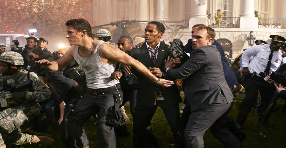 Channing Tatum som John Cale og Jamie Foxx som James Sawyer