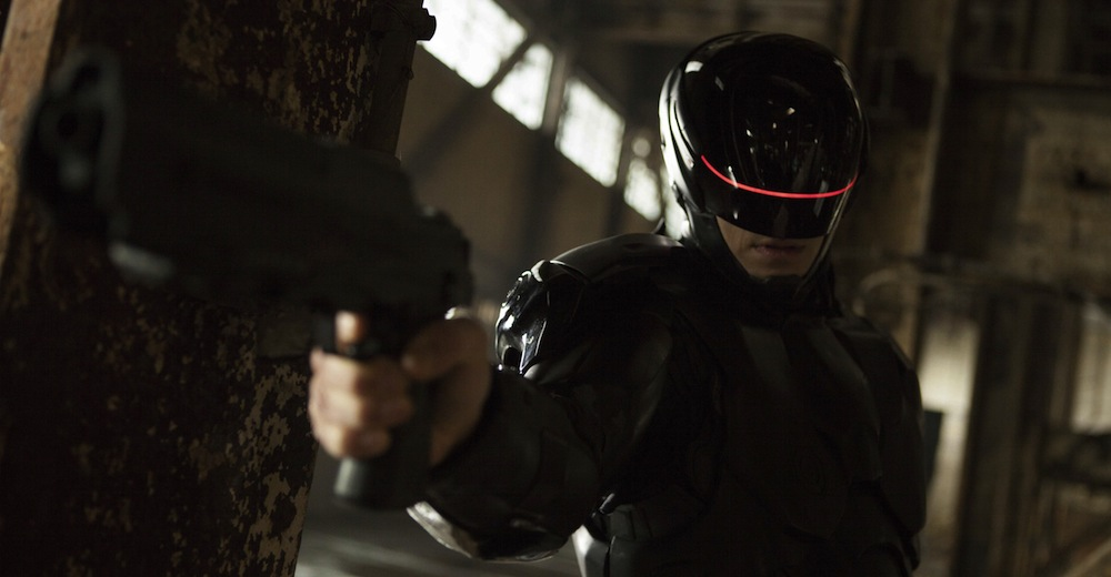 Joel Kinnaman som RoboCop. Courtesy of SF Film, MGM/Columbia Pictures.
