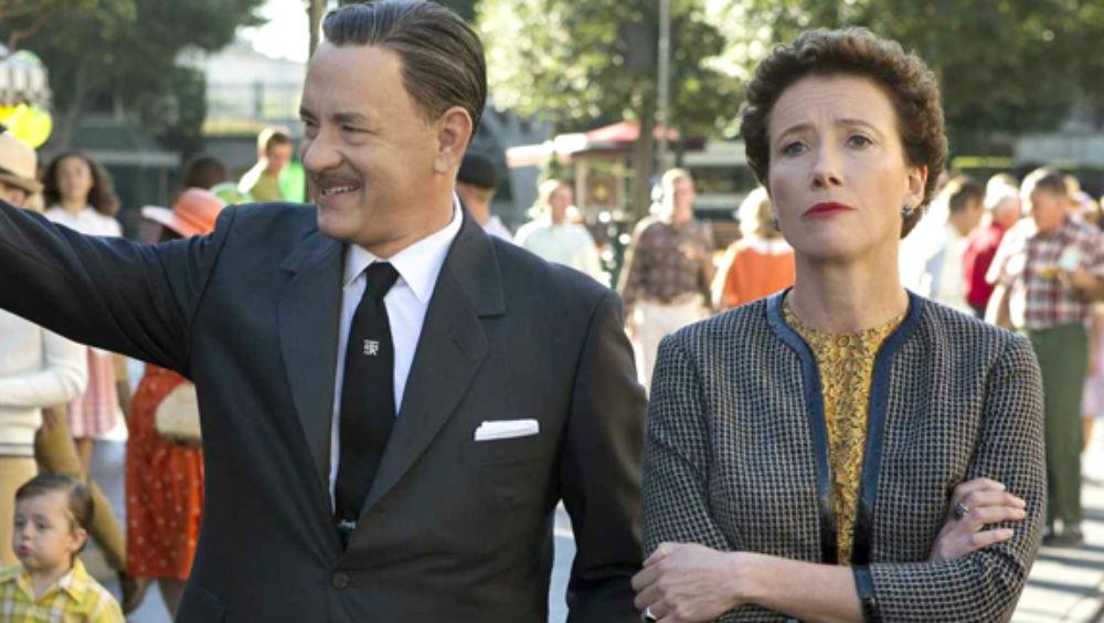 Tom Hanks som Walt Disney og Emma Thompson som P. L. Travers.