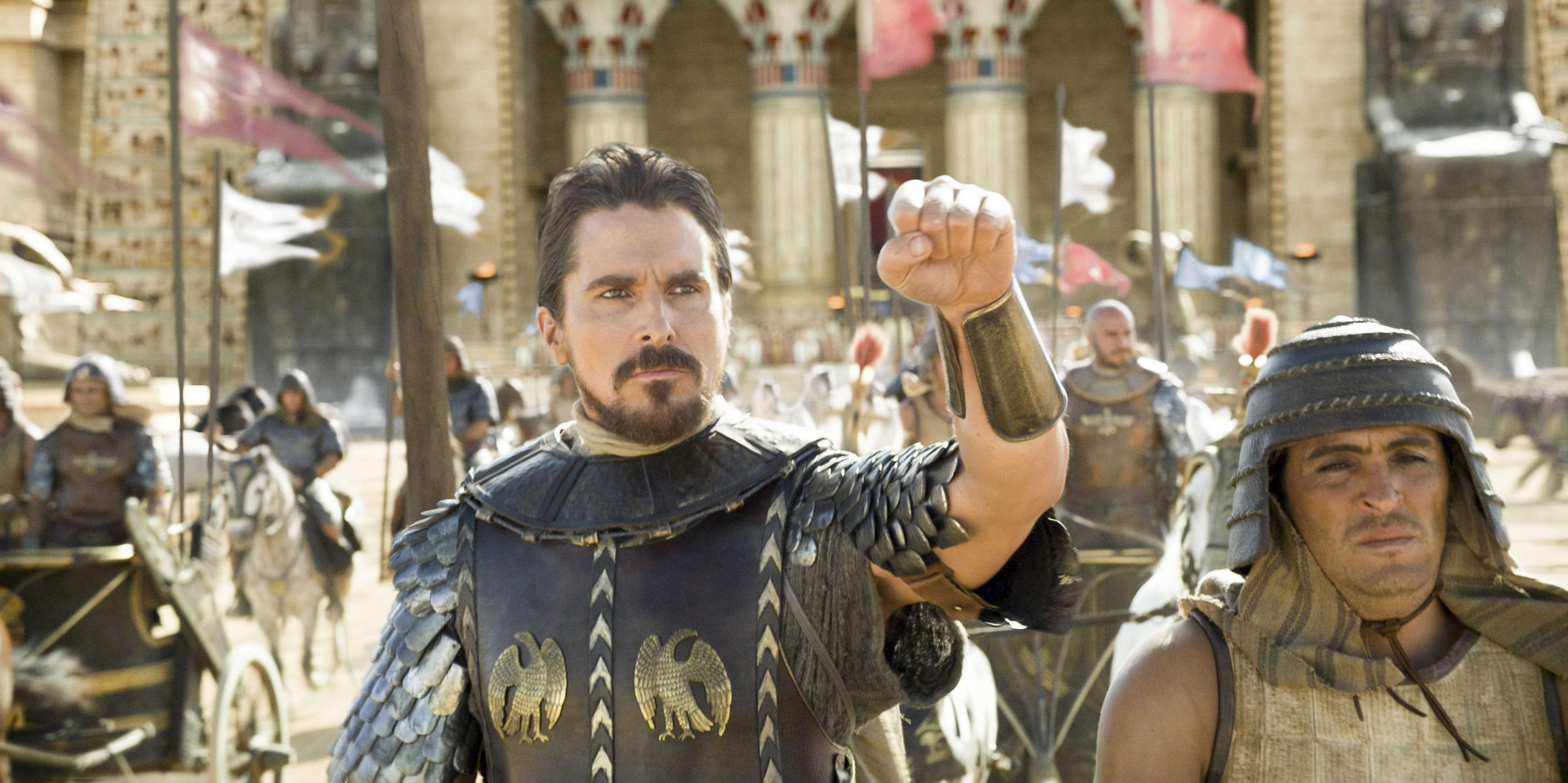 Christian Bale som Moses i Exodus, som har premiere d. 25. december.