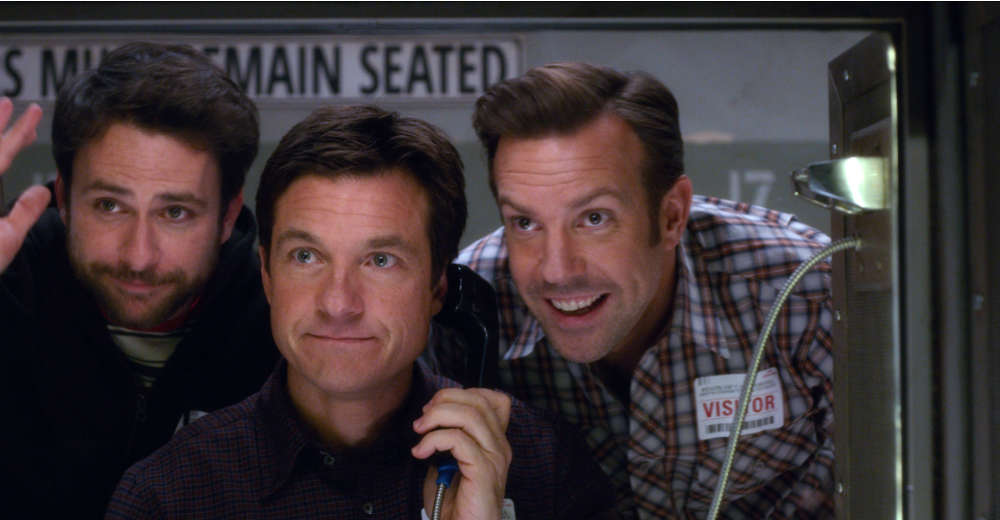 Charlie Day, Jason Bateman og Jason Sudeikis i De satans chefer 2, som har premiere d. 25/12.