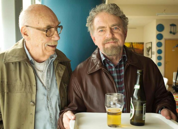Erik Clausen sammen med skuespilleren Elith Nulle Nykjær, der medvirker i mange af Clausens film.