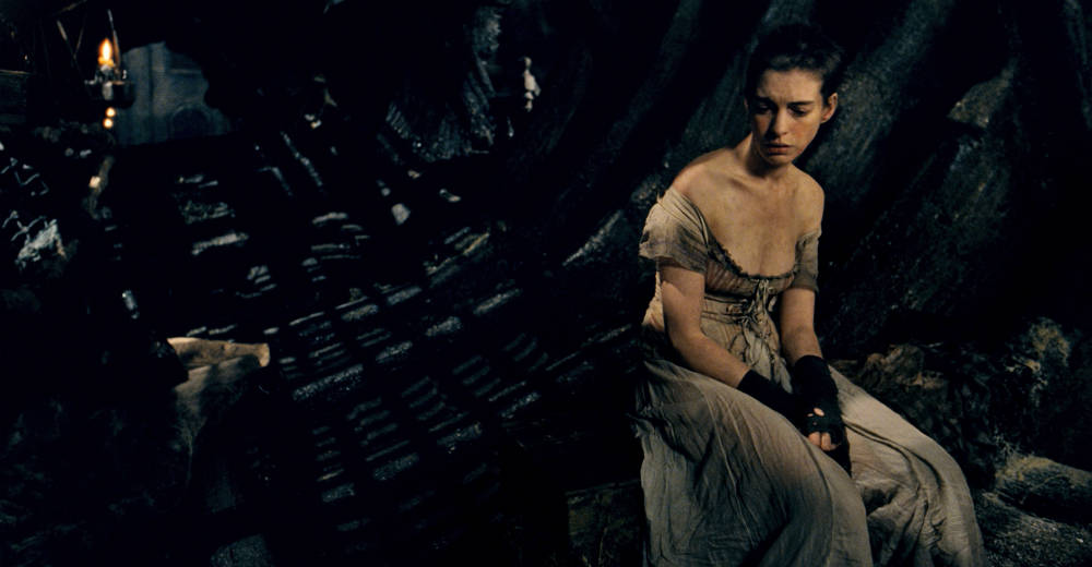 Anne Hathaway som Fantine. Courtesy of UIP/Universal Pictures
